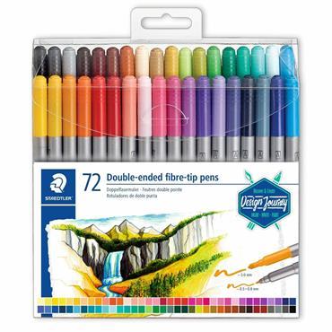 Double-ended fibre-tip pens