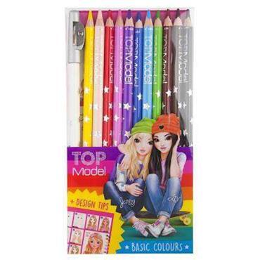 TOPModel Coloured Pencil, 12 C olours