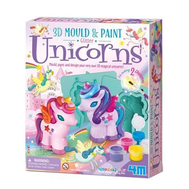 Mould & Paint - 3D Glitter Unicorns