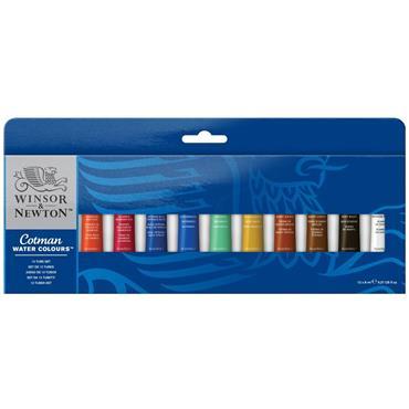 W&N - Cotman Watercolour - 12 Tube Set