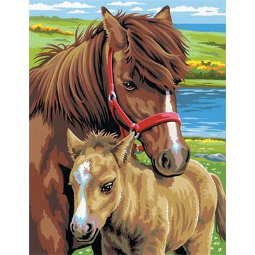 KSG Paint by Numbers Med 2pk - Horses