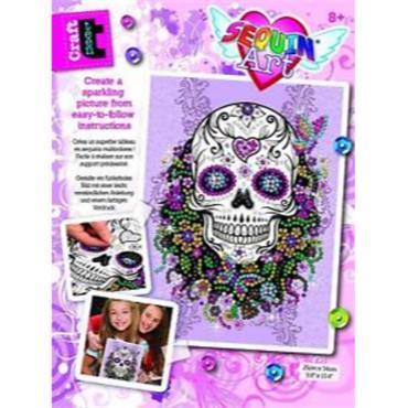 Sequin Art TC Flower Skull