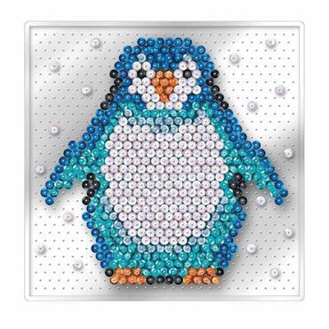 Penguin - Sequin Art Pin Free