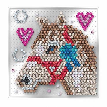 Sequin Art Pin-Free Horse