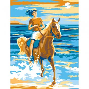 KSG Paint by Numbers Med - Horse Rider