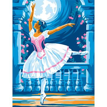 KSG Paint by Numbers Med - Ballerina