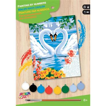 KSG Paint by Numbers Med - Swans