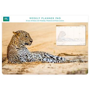 Weekly Planner Pads - Leopard In Sad