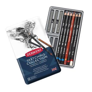 Derwent - Collection 12 Tin - Sketching