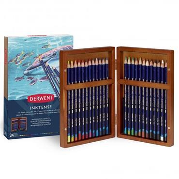 Derwent - Wooden Box - Inktense Pencils (24)