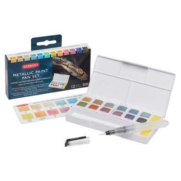 Metallic Watercolour Paint 12 Pan Palette