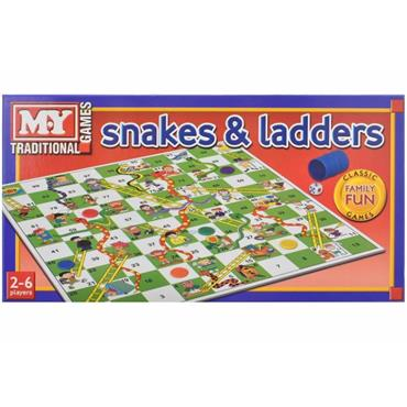 TRADITIONAL SNAKES & LADDERS GAME