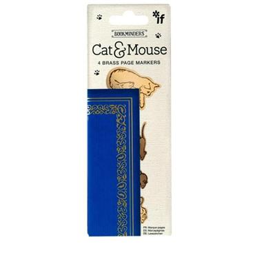 Bookminders Brass Page Markers - Cat & Mouse