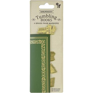 Bookminders Brass Page Markers - Tumbling Books