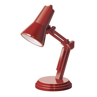 The Book Lamp - Retro Red