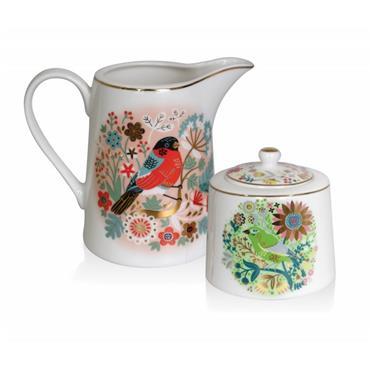 Birdy Sugar Bowl & Milker Set