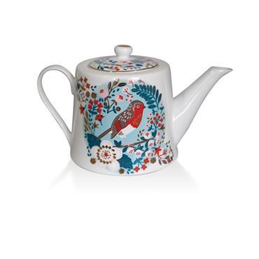 Birdy Tea Pot Robin & Blue Tit