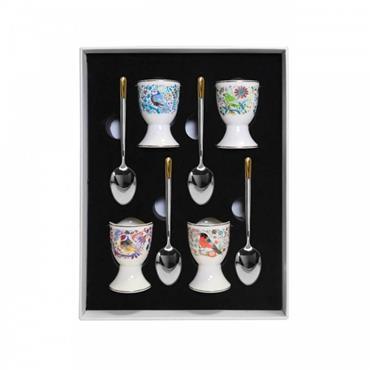 Birdy Egg Cup & Spoon S/4