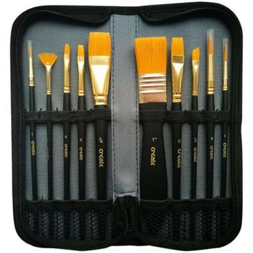 Create Acrylic 10 Brush Wallet Case