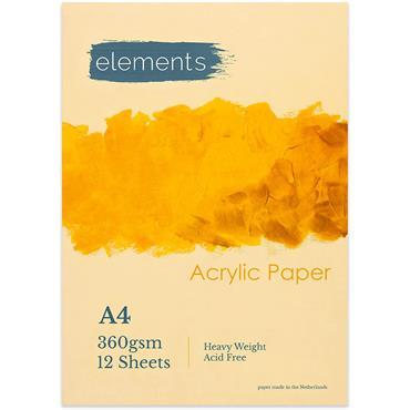 Elements Acrylic Book 12 s A4