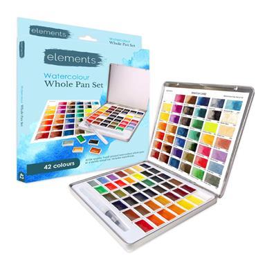 Elements Watercolour 42 Pan Set