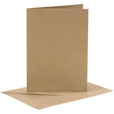 Cards & Env 10.5x15cm 6pk natu