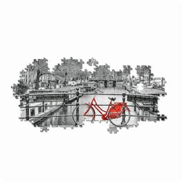 HQC 1000pc Panorama Puzzle - Amsterdam Bicycle