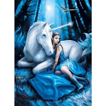 Anne Stokes 1000pcs Puzzle - Blue Moon