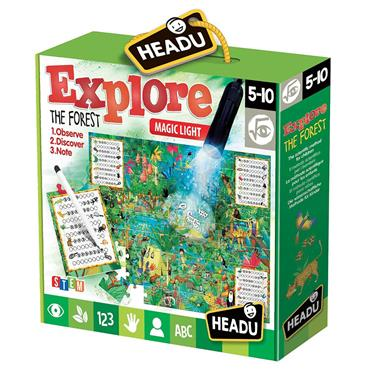 EXPLORT THE FOREST PUZZLE W/TORCH,NOTEBOOK AGE4-8