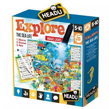 EXPLORE SEA LIFE PUZZLE W/TORCH,NOTEBOOK AGE5-10