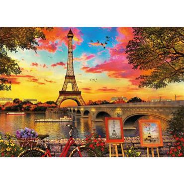 Sunset in Paris 3000 PC Puzzle