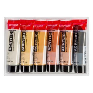 Amsterdam Acrylic Metallics Set 6X20ml