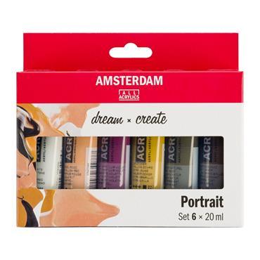 Amsterdam Acrylic Portrait Set 6X20ml
