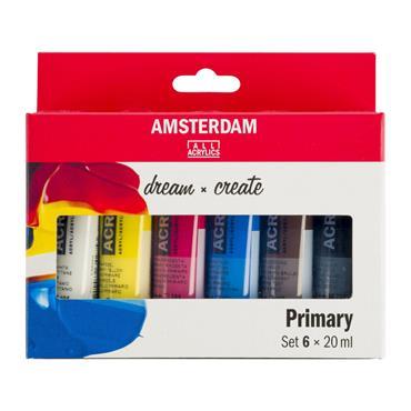 Amsterdam Acrylic Primary Set 6X20ml
