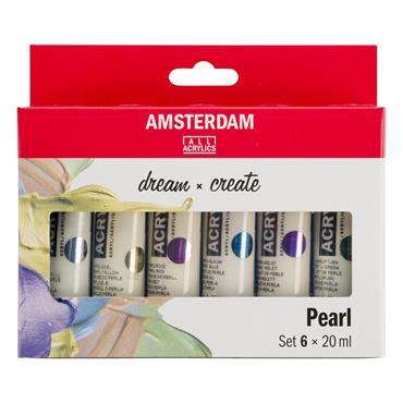 Amsterdam Acrylic Pearlescent Set 6X20ml