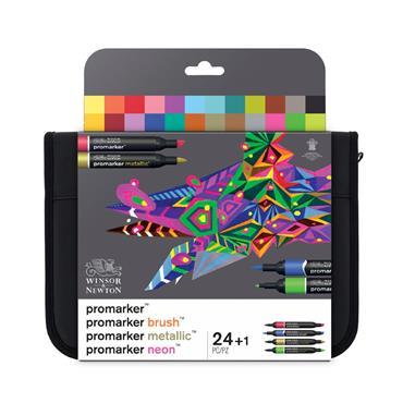 WN Promarker Wallet - 24 Mixed Marker Set