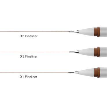 Winsor & Newton Fineliner 3 Set - Sepia