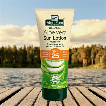 Aloe Pura SPF 25 Medium Protection Sun Lotion 200ml