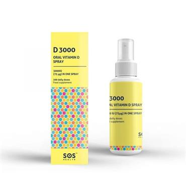 SOS Health - D3000 Vitamin D Spray 30ml