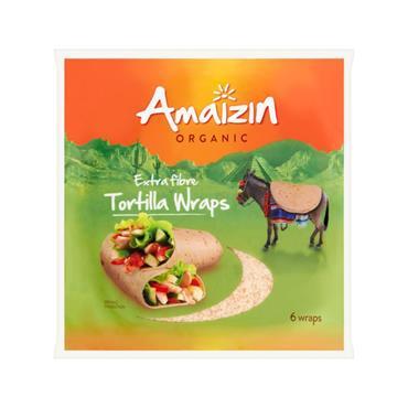 Amaizin Extra Fibre Tortilla Wraps 240g