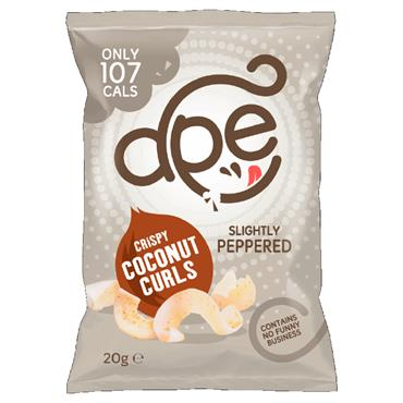 Ape Crispy Coconut Curls –Slightly Peppered 20g
