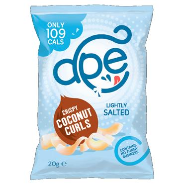 Ape Crispy Coconut Curls – Lightly Salted 20g