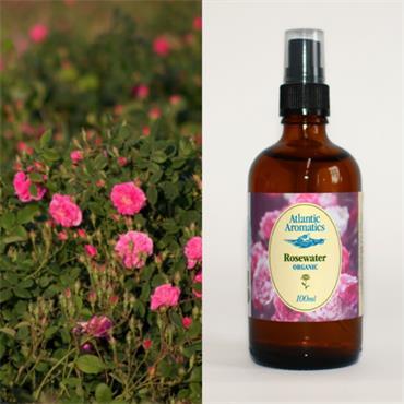 Atlantic Aromatics Organic Rosewater with Atomiser 100ml
