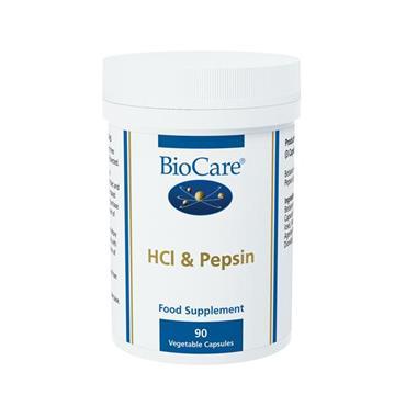 Biocare HCL & Pepsin Capsules 90 Capsules