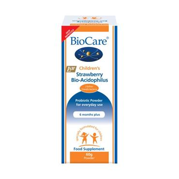 Biocare Children's Strawberry BioAcidophilus Powder 60g