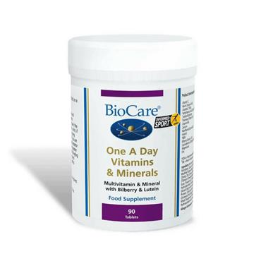 Biocare One A Day Vitamins & Minerals 90 Tablets