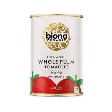 Biona Organic Tomatoes Whole Plum Peeled 400g
