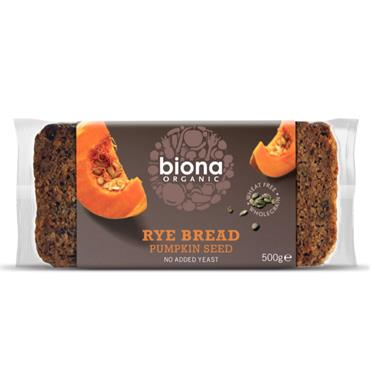 Biona Organic Rye Bread with Pumpkin Seeds 500g