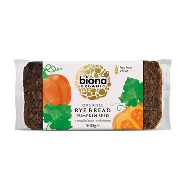 Biona Organic Rye Bread with Pumpkin Seeds 500g