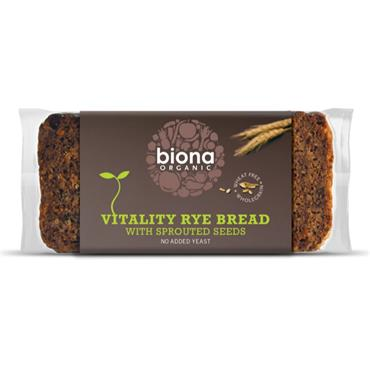 Biona Organic Rye Vitality Bread with Sprouted Seeds 500g